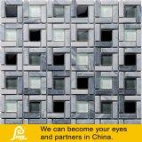 Mosaico de piedra gris y negro del vidrio cristalino de la mezcla