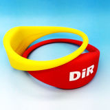 Bracelet de bracelet de l'IDENTIFICATION RF NFC de silicones du stationnement NTAG213 de l'eau