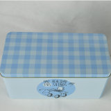 Изготовленный на заказ прямоугольная коробка олова печенья металла, жестяная коробка печенья, коробка олова печенья