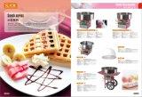 カートが付いている電気キャンデーのフロス機械ピンクの綿菓子メーカー