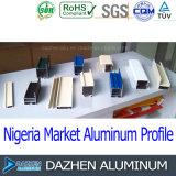 ナイジェリアのWindowsのドアによってカスタマイズされるサイズカラーのためのアルミニウムプロフィールの製造業者