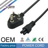 Câble de cordon d'alimentation de la fiche IEC320 C13 de Pin de Sipu Brésil 3