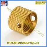 구리 견과 (HS-TP-020)를 가공하는 사출 성형 구리 삽입 금속