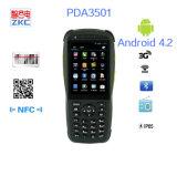 無線GSMの人間の特徴をもつ手持ち型1dバーコードのスキャンナー装置PDA3501