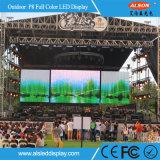 Farbenreiche im Freienmiete P8 LED-Bildschirmanzeige für Erscheinen