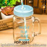 16oz Wholesale Glaswasser-Flasche, Glassaft-trinkendes Glas mit Griff (HDP-3061)