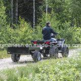 Quads/ATV/Small 트랙터를 위한 흑인 운동 코팅 보행 격판덮개 500kgs 다재다능한 기울이는 농장 트레일러 또는 상자 트레일러 또는 단 하나 차축 트레일러 또는 정원 트레일러 또는 야드 트레일러
