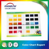 Catálogo de la carta de color de la impresión del depósito para la goma del color bajo del agua