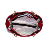 Ovale gestickte Entwürfe der Handtasche für Dame-Zubehör