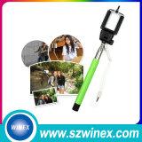 Всеобщая портативная связанная проволокой Stretchable ручка Selfie для треноги Monopod ручки Huawei Сони HTC Xiaomi галактики Samsung iPhone миниой