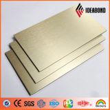 Panneau composé en aluminium de couleur d'or de luxe d'Ideabond 3-6mm