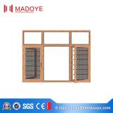 Окно Nrofile европейского типа алюминиевое с сетями и конструкцией решетки