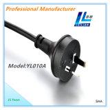 Tipo enchufe de SAA Australia del cable eléctrico con 10A 250V