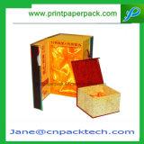 Kundenspezifischer Wein-verpackenkarton-Kasten des überzogenen Papier-ISO9001