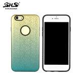 Caja del teléfono celular del color del gradiente del efecto del modelo de mosaico de Shs 3D para el iPhone 6 más