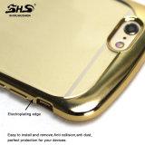 Shs Leichtgewichtler, der aufgetragenen weichen TPU Handy-Kasten des Muster-Effekt-für iPhone 7 galvanisiert