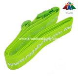 """Cinta verde impressa da bagagem do poliéster de alta qualidade 2 """" com curvatura plástica"""