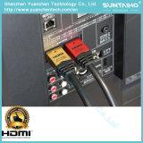 Aluminiumüberzogenes HDMI Kabel des shell-24k Gold mit Ethernet für 3D