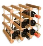 Cremagliera pratica della bottiglia della visualizzazione della memoria di vino della bottiglia di legno 12