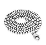 Colore d'argento Chain d'acciaio di titanio della collana dei monili di modo