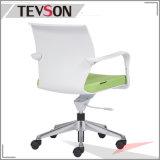 Großhandelsbüro-Möbel-Plastikbüro-Stuhl mit Aluminiumunterseite
