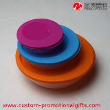 Пластичный круглый ходкий комплект коробки обеда с крышкой