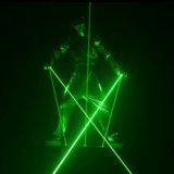 Profesional 8W Laserman mostrar al hombre láser Etapa de iluminación láser verde Sistema de baile
