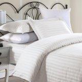 Baumwollsatin-Streifen-Bettwäsche 100% des Weiß-300t stellt Bettwäsche für Stern-Hotel ein