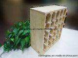 Естественная обыкновенная толком деревянная стойка индикации вина для стеллажа для выставки товаров вина