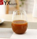 高ホウケイ酸塩の耐熱性単一の壁のガラスコップのStemlessワインのコップのミルクのコーヒー・マグ