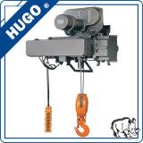 380V grua de corda elétrica do fio da corda de fio de 3 fases com controle sem fio