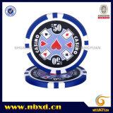 11.5g 8stripe Sticker Poker Chip com adesivos disponíveis (SY-D17H-1)