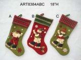 Media del muñeco de nieve de Santa con la decoración hecha punto de la Pun¢o-Navidad