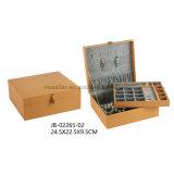 Rectángulo de joyería elegante de la caja de la joyería de Beuaty de la visualización del almacenaje del embalaje del regalo