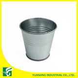 Galvanized Metal Garden Decor Flower Pot