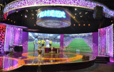 schermo di visualizzazione sottile eccellente del LED della fibra del carbonio di pH4.8mm per la stazione televisiva