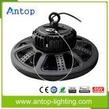 Nueva alta luz de la bahía del UFO LED con el disipador de calor de las aletas