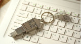 집 모양 USB 펜 드라이브, Keychain를 가진 금속 USB 지팡이