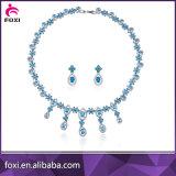 中国の工場製造者のアラビア結婚のドバイの白い金の宝石類セット