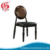 Parte traseira redonda de couro genuíno da alta qualidade que janta a cadeira para vendas