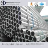 Pared delgada galvanizada tubo redondo de acero para el equipo de la aptitud