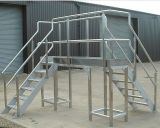 Plataforma galvanizada da construção de aço do MERGULHO quente com Grating de aço