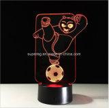 Nettes 3D Kongfu Nachtlicht des Panda-Fühler-Steuerled