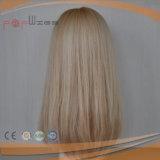 Mano llena atada humana rubia mixta Golden cabello laca frontal Médico para pérdida de pelo peluca del paciente