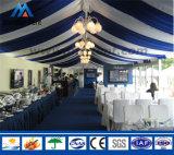 宴会のための大きい屋外の白いキャンバスの結婚披露宴のテント