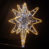 De Lichten van de Decoratie van de Kous van Kerstmis fonkelen het Licht van de Vakantie van de Ster