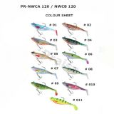 Pr-Nwca/Nwcb 120 künstlicher Plastikköder mit Haken-Weiche-Phasenfischen-Köder