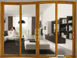 Singolo portello di vetro di scivolamento di vetro di alluminio di disegno del portello con le griglie