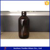 bernsteinfarbige Glasflasche des tropfenzähler-240ml mit Überwurfmutter