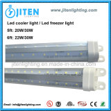 Indicatore luminoso del dispositivo di raffreddamento di ETL LED, indicatore luminoso del tubo del dispositivo di raffreddamento di forma di v T8 LED dell'indicatore luminoso 20W del congelatore di 5FT LED, indicatore luminoso di portello interno del dispositivo di raffreddamento del LED